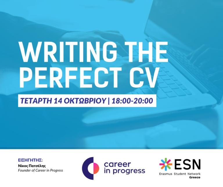 Webinar: Writing the perfect CV